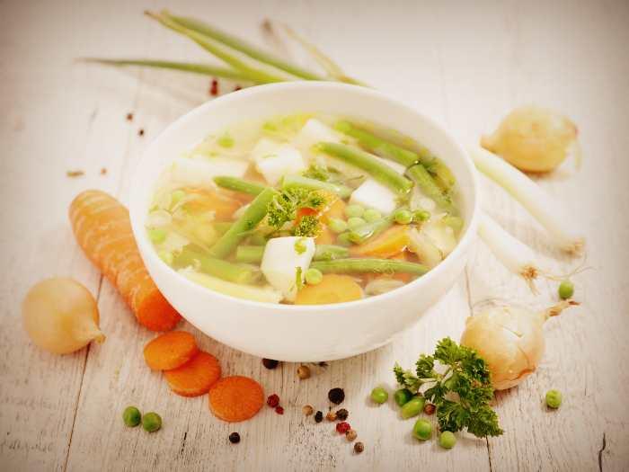 Овощной суп при подагре