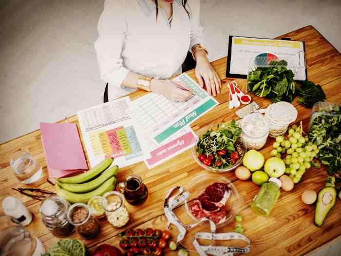 Составление питания у диетолога