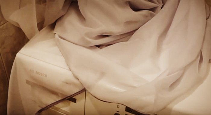 Как стирать тюль из органзы в стиральной машине автомат