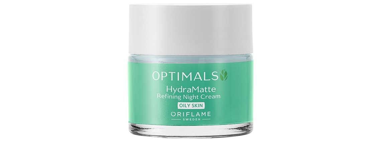 Optimals Hydra - матирующий ночной крем для жирной кожи