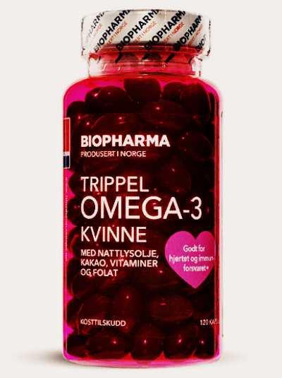 Описание Срок годности партии: до июня 2021 г. Biopharma Trippel Omega-3 Kivinne разработана для бережного ухода за женским здоровьем и красотой