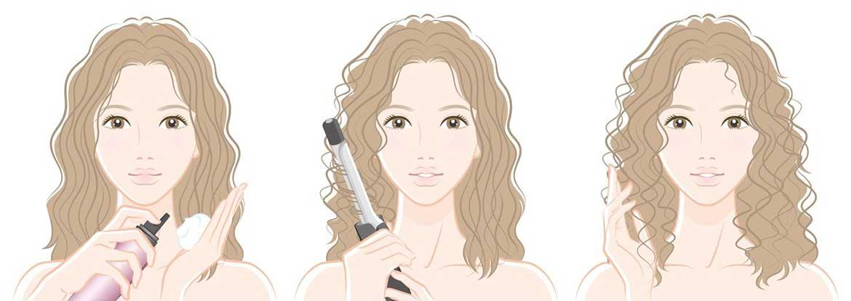Укладка волос муссом