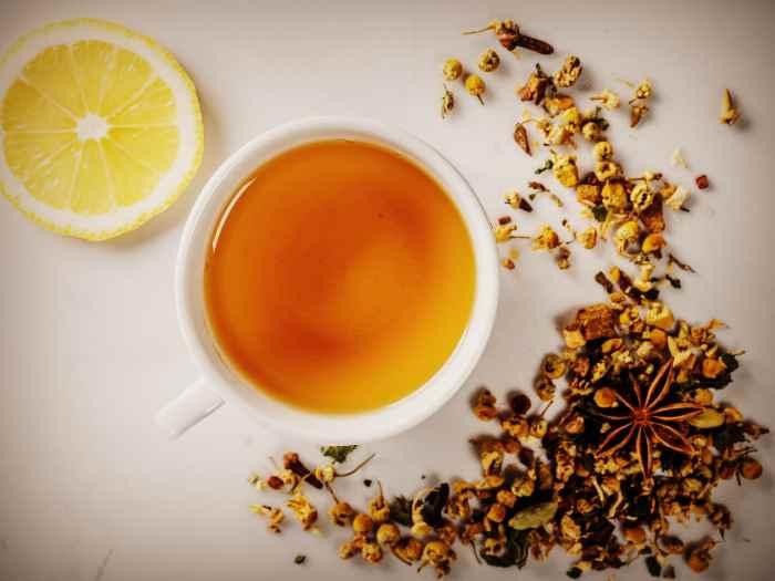 Ромашковый чай с лимоном