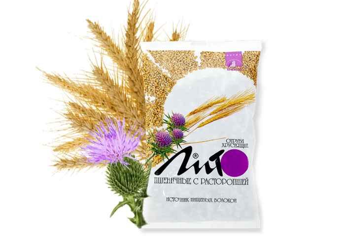 Пшеничные отруби с расторопшей