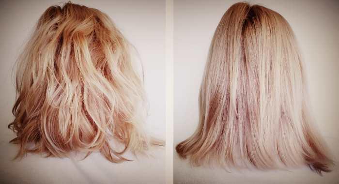 Волосы До и После молекулярного восстановления
