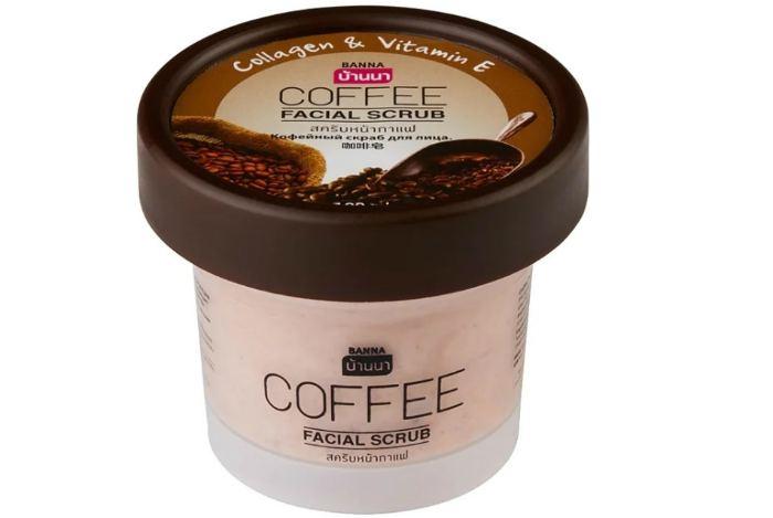 Banna скраб для лица Facial Scrub Кофе