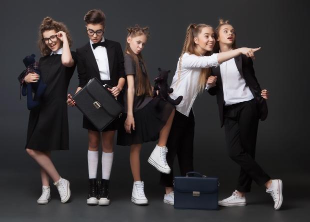 Школьники в модной форме